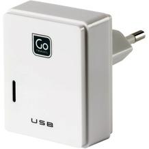 Go Travel Doppel-USB-Ladegerät für Micro-USB + Apple-Geräte weiß