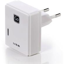 Go Travel Elektro + Elektronikgeräte Doppel-USB-Ladegerät für Micro-USB + Apple-Geräte UK weiß
