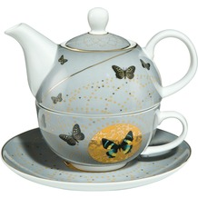 Goebel Artis Orbis Joanna Charlotte Grey Butterflies - Tea for One