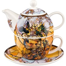 Goebel Artis Orbis Louis Comfort Tiffany Sittiche - Tea For One