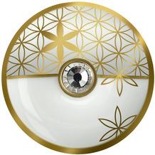 Goebel Brosche Blume des Lebens Weiß 5 cm
