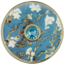 Goebel Brosche Vincent v. Gogh - Mandelbaum blau 5 cm