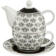 Goebel Chateau Black and White Diamonds - Tea for One
