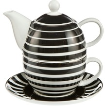 Goebel Chateau Black and White Stripes - Tea for One