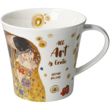 "Goebel Coffee-/Tea Mug Gustav Klimt - ""All Art is Erotic"" 9,5 cm"