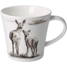 """Goebel Coffee-/Tea Mug Peter Schnellhardt - """"Gemeinsam unterwegs"""" 9,5 cm"""