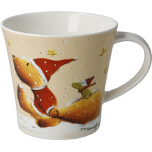 "Goebel Coffee-/Tea Mug Peter Schnellhardt - ""Wintertime Friends"" 9,5 cm"