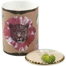 """Goebel Duftkerze Elephant - """"Leopard Pink"""" 11,5 cm"""
