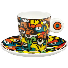 """Goebel Espressotasse Billy the Artist - """"Looking into the Future"""" 7,0 cm"""