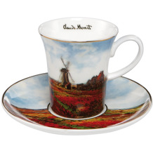 Goebel Espressotasse Claude Monet - Tulpenfeld 7,5 cm