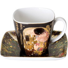 """Goebel Espressotasse Gustav Klimt - """"Der Kuss"""" 6,5 cm"""