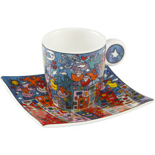 "Goebel Espressotasse James Rizzi - ""City Birds"" 6,5 cm"