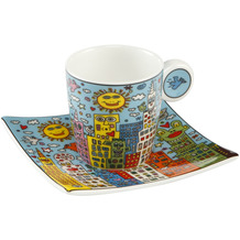 "Goebel Espressotasse James Rizzi - ""City Day"" 6,5 cm"