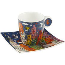 "Goebel Espressotasse James Rizzi - ""City Night"" 6,5 cm"
