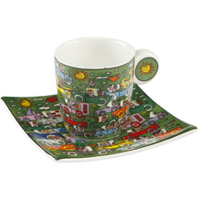 "Goebel Espressotasse James Rizzi - ""Crosstown Traffic"" 6,5 cm"