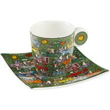 Goebel Espressotasse James Rizzi - Crosstown Traffic 6,5 cm