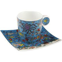 Goebel Espressotasse James Rizzi - Under the Deep Blue Sea 6,5 cm