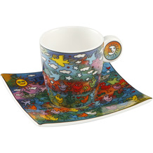 "Goebel Espressotasse James Rizzi - ""Up Down and Fly Around"" 6,5 cm"