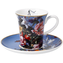 """Goebel Espressotasse Jan Davidsz de Heem - """"Sommerblumen"""" 8,0 cm"""
