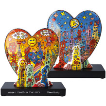 "Goebel Figur James Rizzi - ""Heart times in the City"" 23,0 cm"