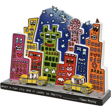 Goebel Figur James Rizzi - What a Fun City 27,50 cm