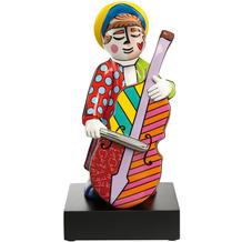"""Goebel Figur Romero Britto - """"Bassgeiger"""" 34,5 cm"""