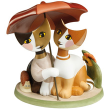 "Goebel Figur R.Wachtmeister - Katzen ""Insieme sotto l'ombrello"" 18,5 cm"