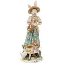 Fitz & Floyd Fitz&Floyd Figur Hasendame mit Blumenkorb 50,0 cm