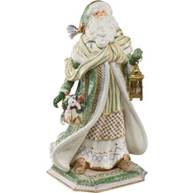 Fitz & Floyd Fitz&Floyd Figur Santa im grünen Mantel 52,0 cm