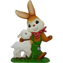 """Goebel Gartenstecker Hase mit Lamm - """"Weggefährten"""" 35,0 cm"""