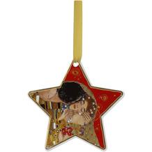 """Goebel Hängeornament Gustav Klimt - """"Der Kuss rot"""" 10,5 cm"""