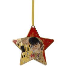 """Goebel Hängeornament Gustav Klimt - """"Der Kuss rot"""" 16,5 cm"""