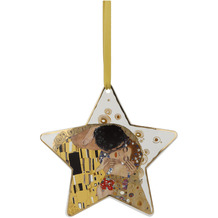 """Goebel Hängeornament Gustav Klimt - """"Der Kuss weiß"""" 16,5 cm"""