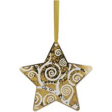 """Goebel Hängeornament Gustav Klimt - """"Der Lebensbaum gold-weiß"""" 16,5 cm"""
