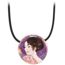 Goebel Halskette Gustav Klimt - Dame mit Fächer 54,0 cm
