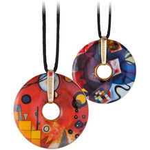 Goebel Halskette Wassily Kandinski - Schweres Rot 58,0 cm