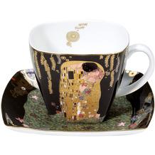 Goebel Kaffeetasse Gustav Klimt - Der Kuss 10,0 cm