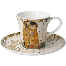 "Goebel Kaffeetasse Gustav Klimt - ""Der Kuss"" 8,5 cm"