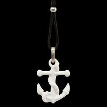 Kaiser Porzellan Halskette Anker 58,0 cm