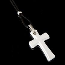 Kaiser Porzellan Halskette Kreuz 58,0 cm