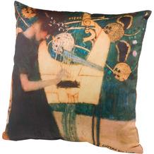 """Goebel Kissenhülle Gustav Klimt - """"Die Musik"""" 40 x 40 cm"""