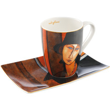 Goebel Künstlertasse Amedeo Modigliani - Frau mit Hut 12,0 cm