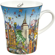 "Goebel Künstlertasse Charles Fazzino - ""Butterflies over New York"" 11,0 cm"