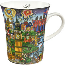 "Goebel Künstlertasse Charles Fazzino - ""The Lights of London"" 11,0 cm"