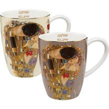 """Goebel Künstlertasse Gustav Klimt - """"Der Kuss"""" 11,0 cm"""