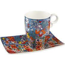 Goebel Künstlertasse James Rizzi - City Birds 12,0 cm