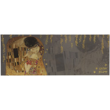 """Goebel Magnettafel Gustav Klimt - """"Der Kuss"""" 80,0 x 30,0 cm"""