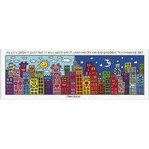 "Goebel Magnettafel James Rizzi - ""My City Doesn't Sleep"" 75,0 x 25,0 cm"