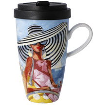 "Goebel Mug To Go Trish Biddle - ""Summer Girl"" 15,0 cm"