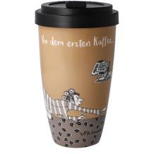 "Goebel Mug To Go Barbara Freundlieb - ""Vor dem ersten Kaffee"" 15,0 cm"